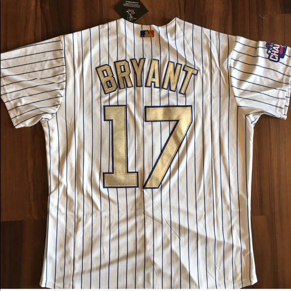 classic fit 3e5b1 af33b #17 Kris Bryant Chicago Cubs World Series Jersey NWT